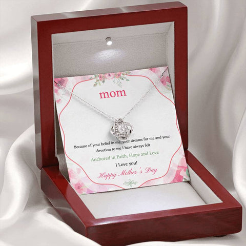 I Love You Happy Mother's Day Love Knot Necklace