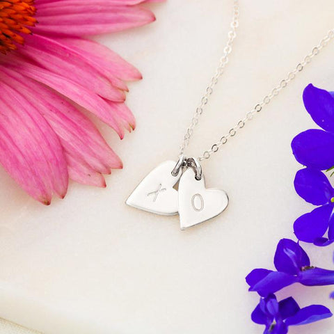 To My Mom I love you Sweetest Hearts Necklace