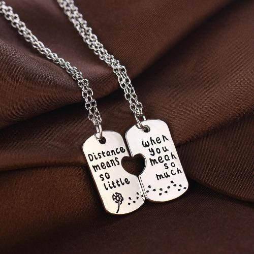 Long Distance Relationship Necklace Set