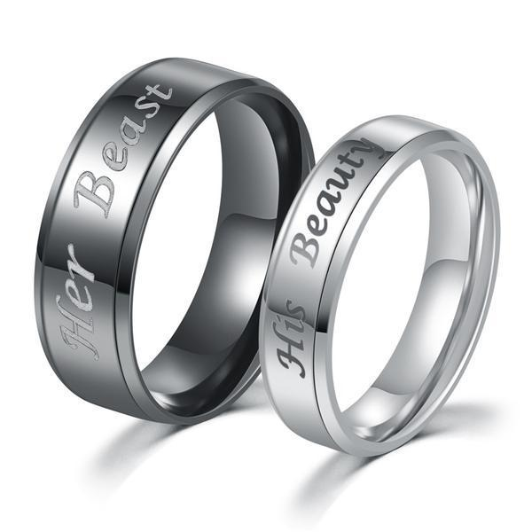 His Beauty And Her Beast Couples Ring Sugarandhoney Us