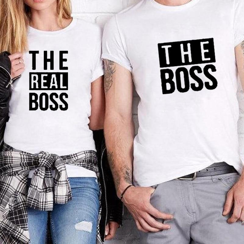 a276366ae6 The Boss The Real Boss Couples T-Shirt - sugarandhoney.us