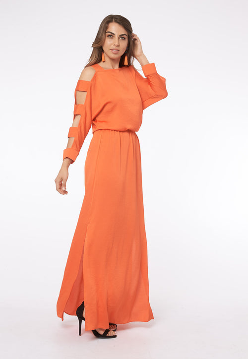 Feel Your Skin in Amalfi Coral Maxi Dress