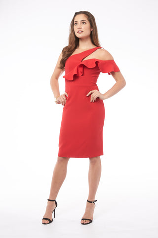 Let's Go Out In Valencia Coral Dress