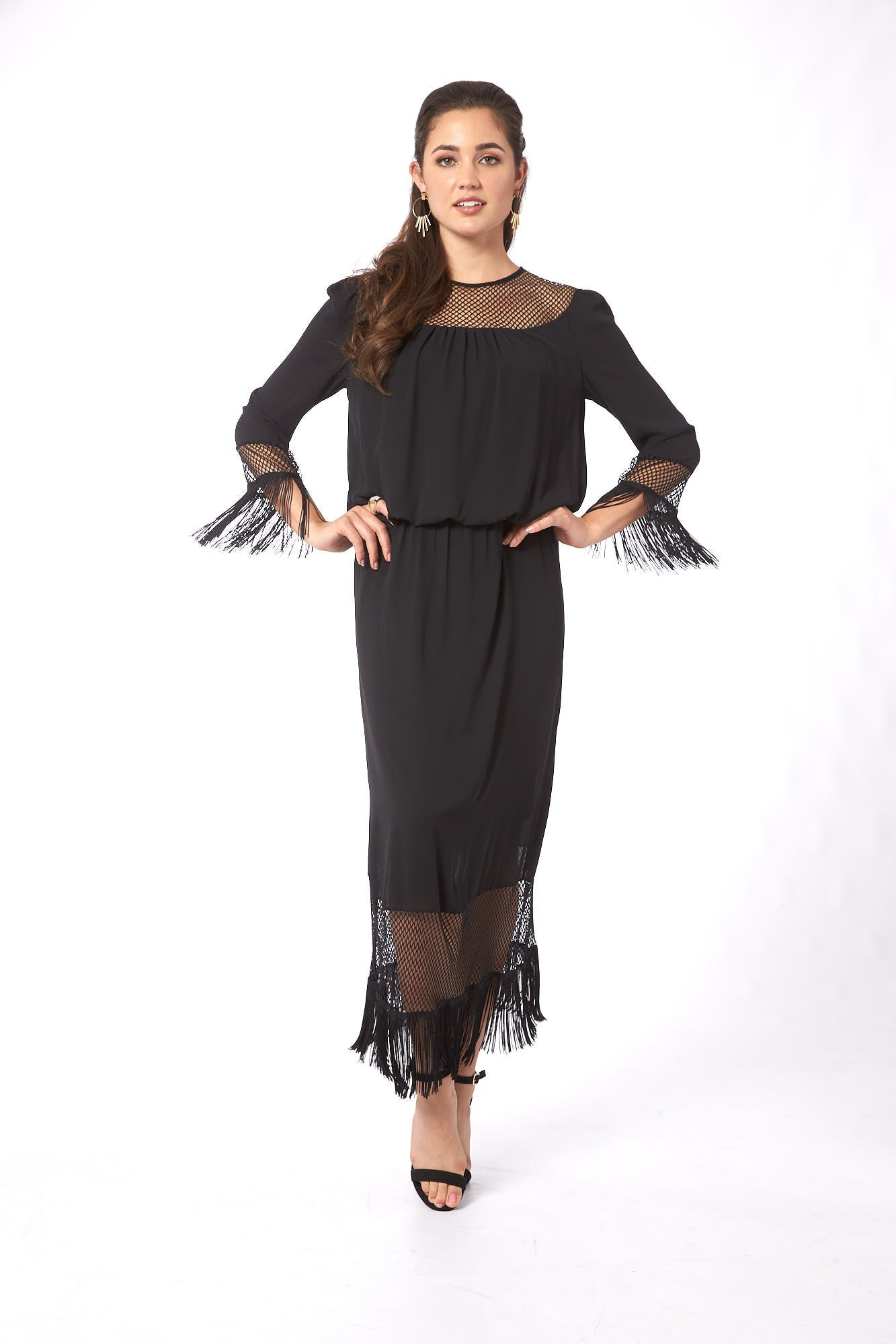 Big Girls Don't Cry in Amsterdam Black Maxi Dress