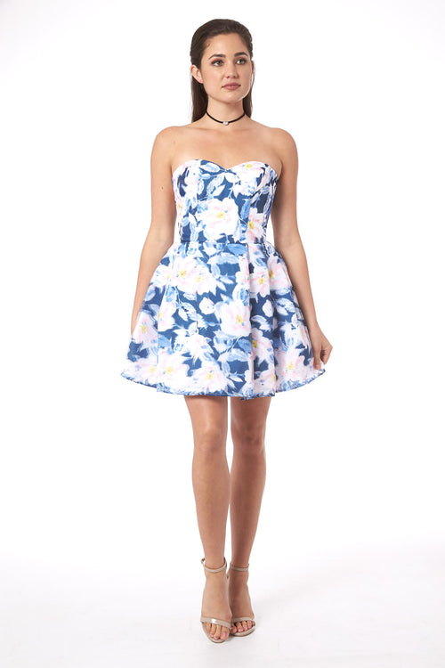 Flowers in Paris Mini Dress