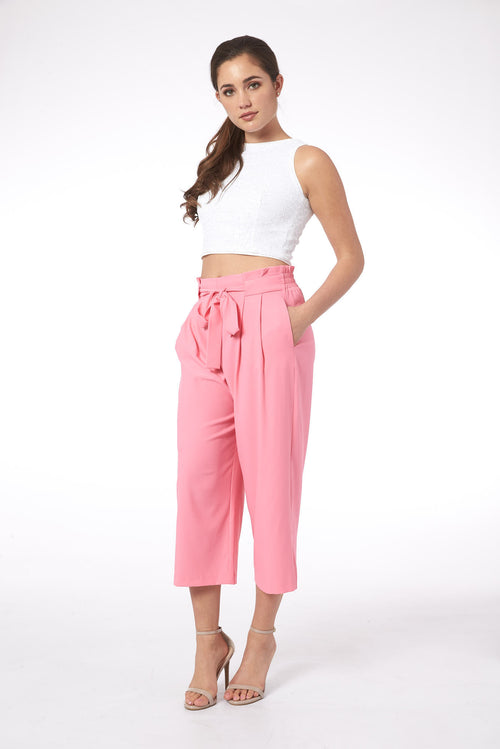 Blush in Toulouse Mid-Rise Culotte Pant