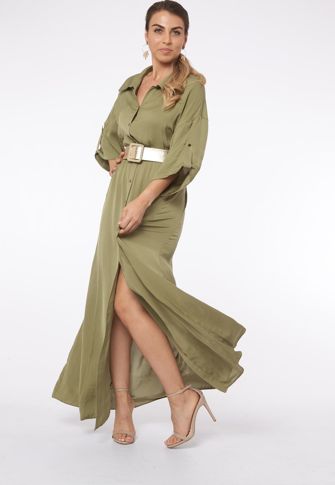My Ancient Soul in Ghent Green Olive Maxi Dress