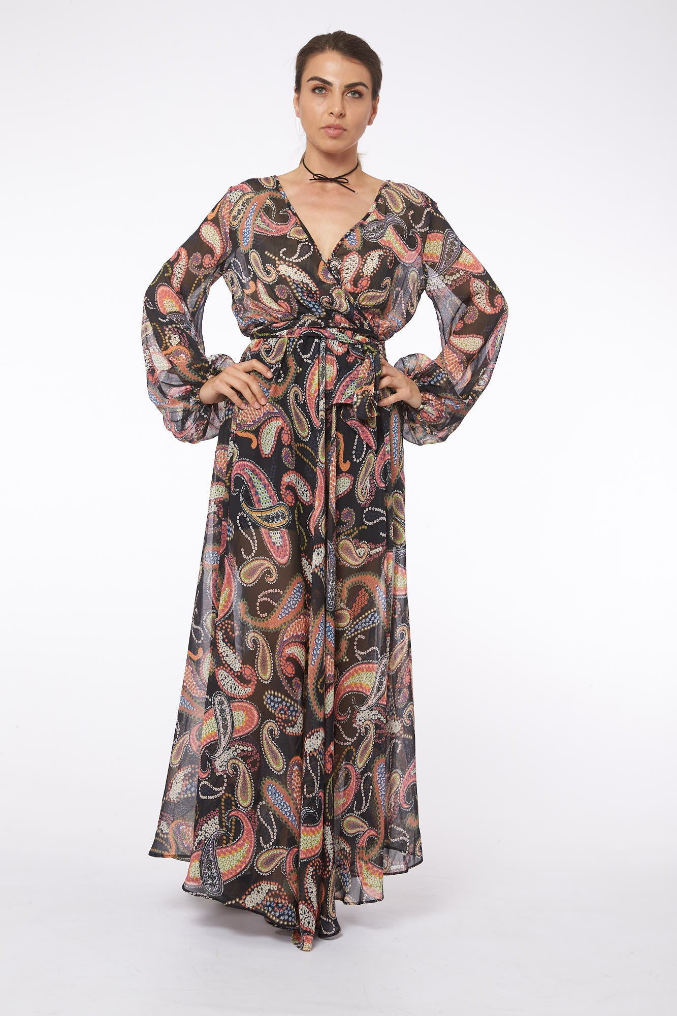 Wrap me in Granada Maxi Dress