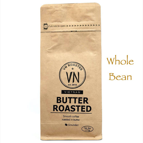 Whole Bean Authentic Vietnamese Coffee, Butter Roast, 12 oz.