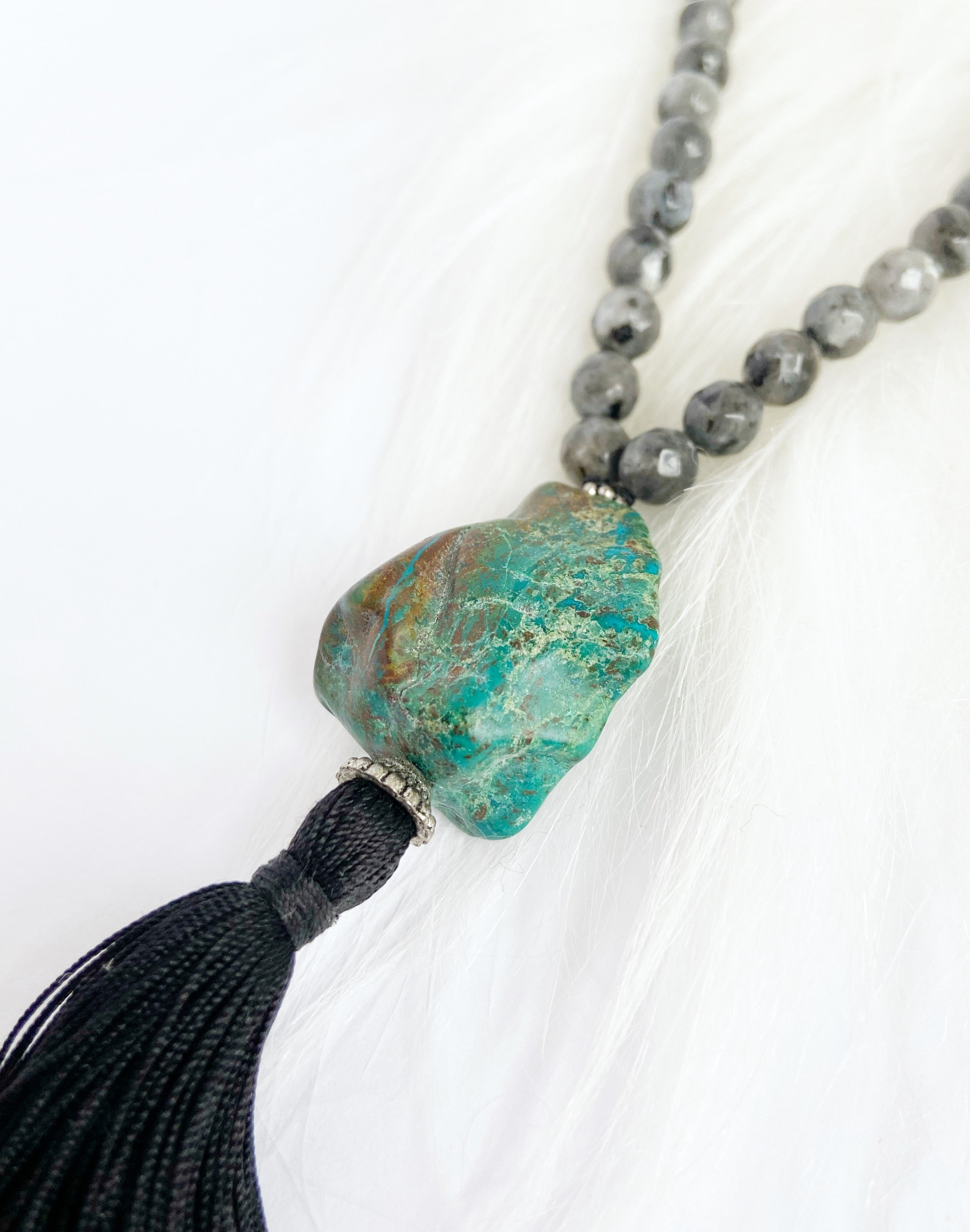 Natural Turquoise & Labradorite Necklace