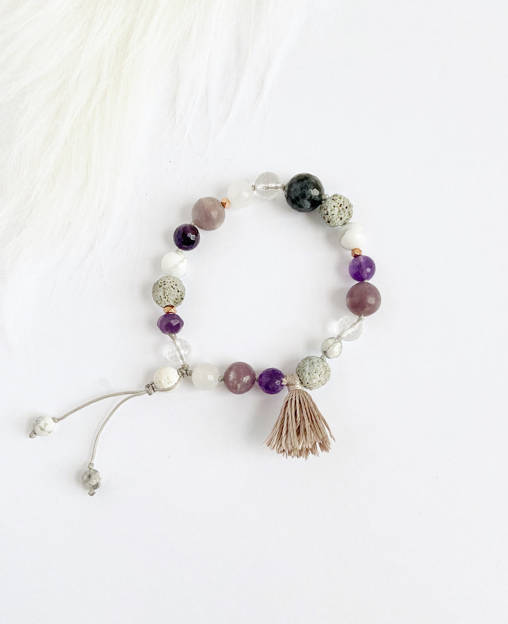 Amethyst with Silk Tassel