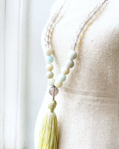 Agate & Amazonite Necklace