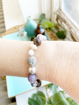 """Lilac"" Adjustable Diffuser Bracelet"