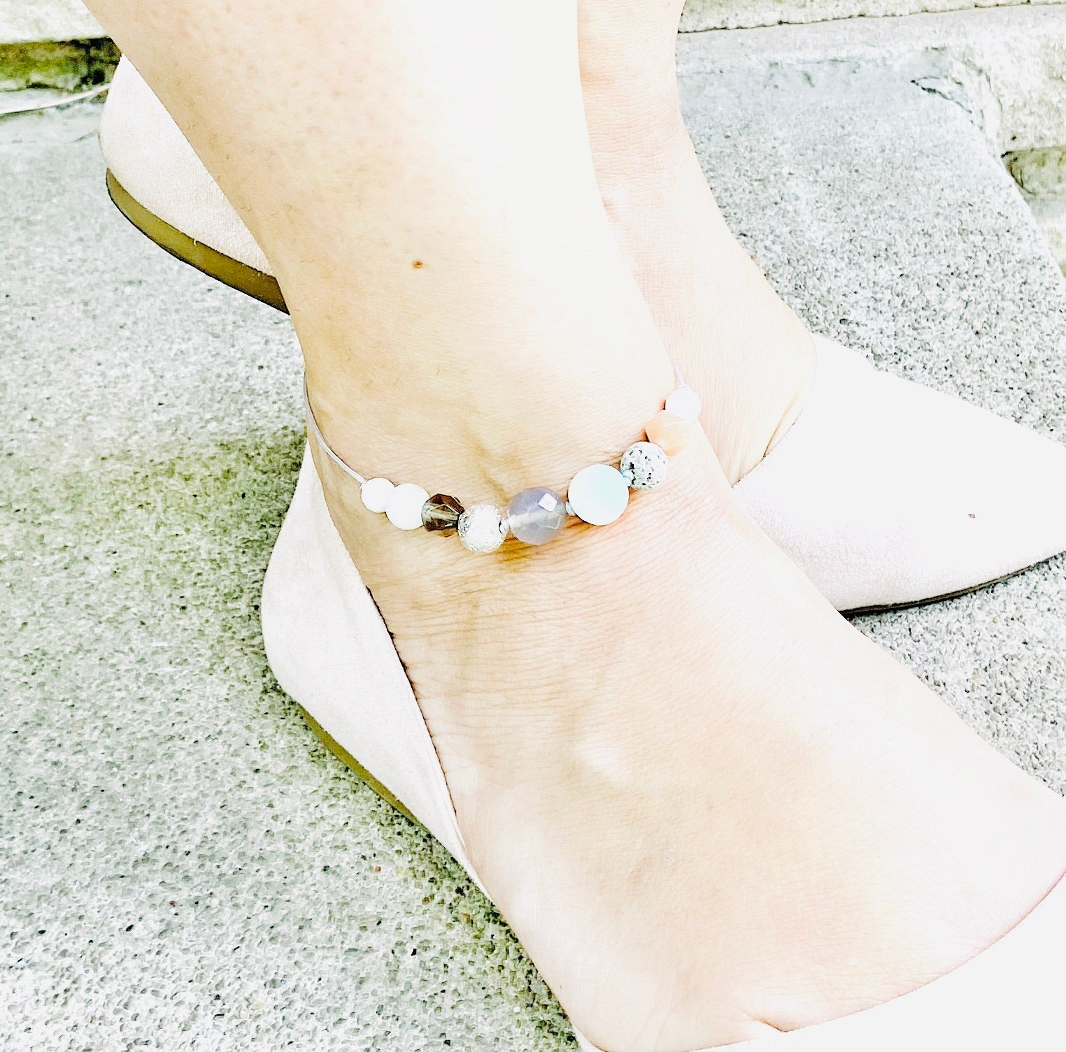 """Hydrangea"" Diffuser Anklet"