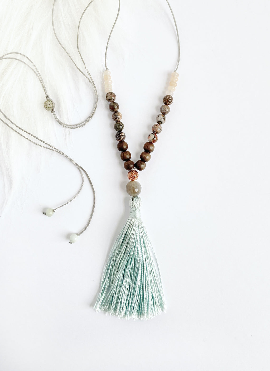 Moonstone & Jasper Necklace