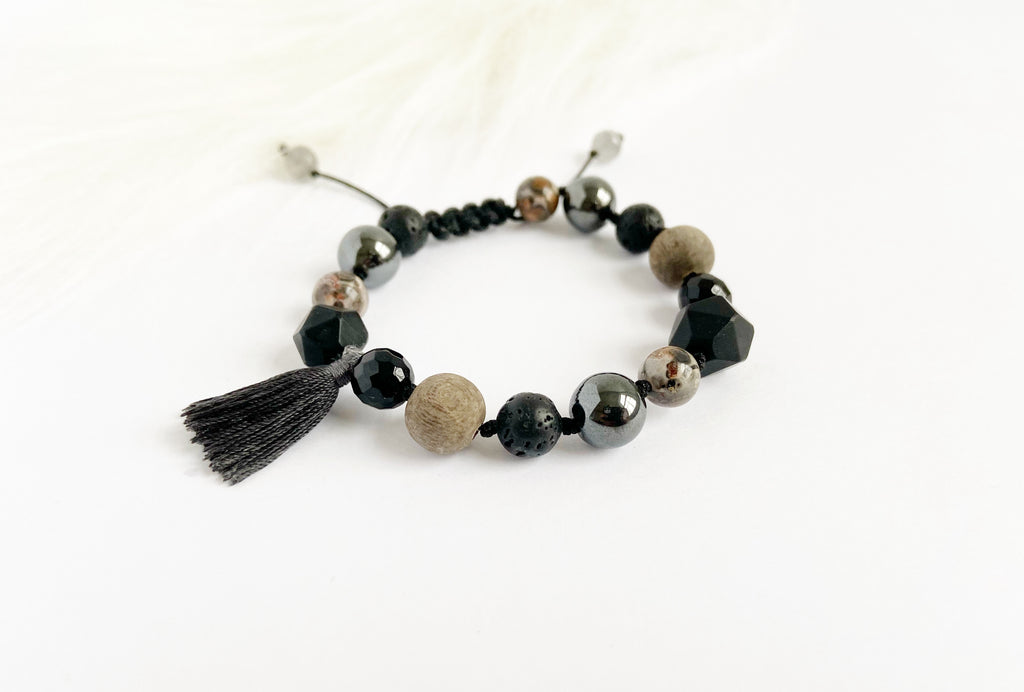 Black Onyx with Tassel