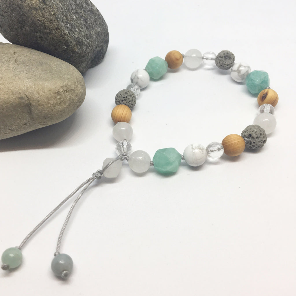 Amazonite and Cedarwood Diffuser Bracelet