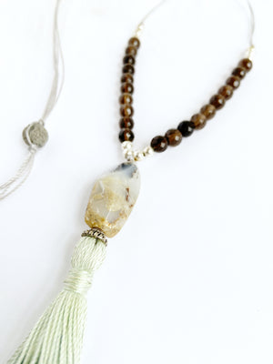 Opal & Smokey Quartz Necklace