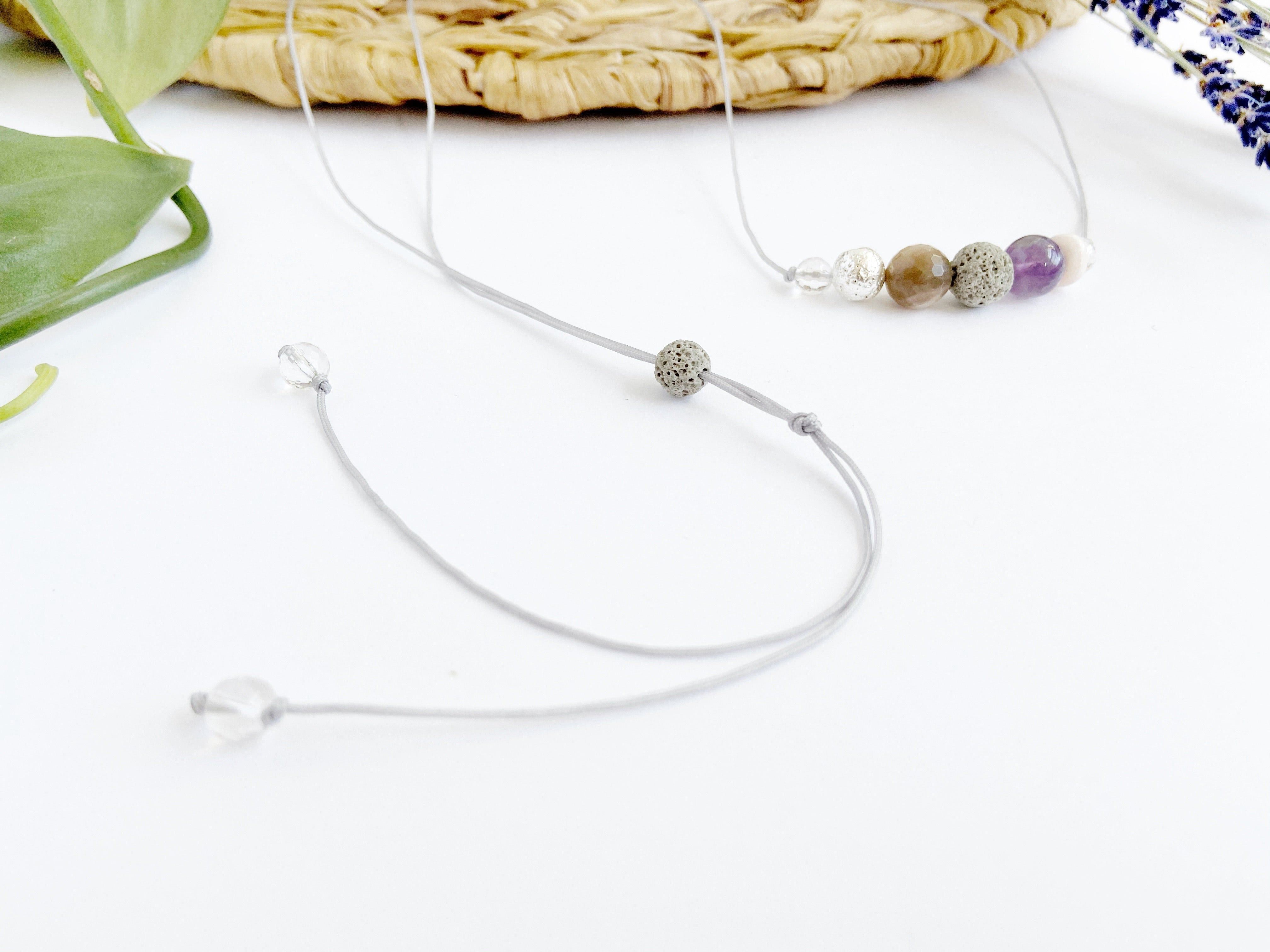 """Lilac"" Adjustable Diffuser Necklace"