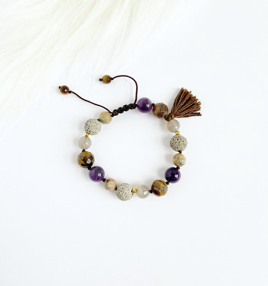 Amethyst & Tiger Eye with Tassel