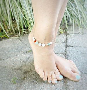 """Mojito"" Adjustable Anklet"