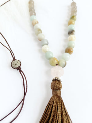 Rose Quartz & Amazonite Necklace