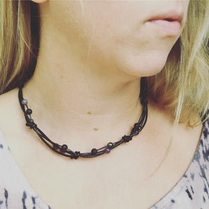 Leather Twist Necklace