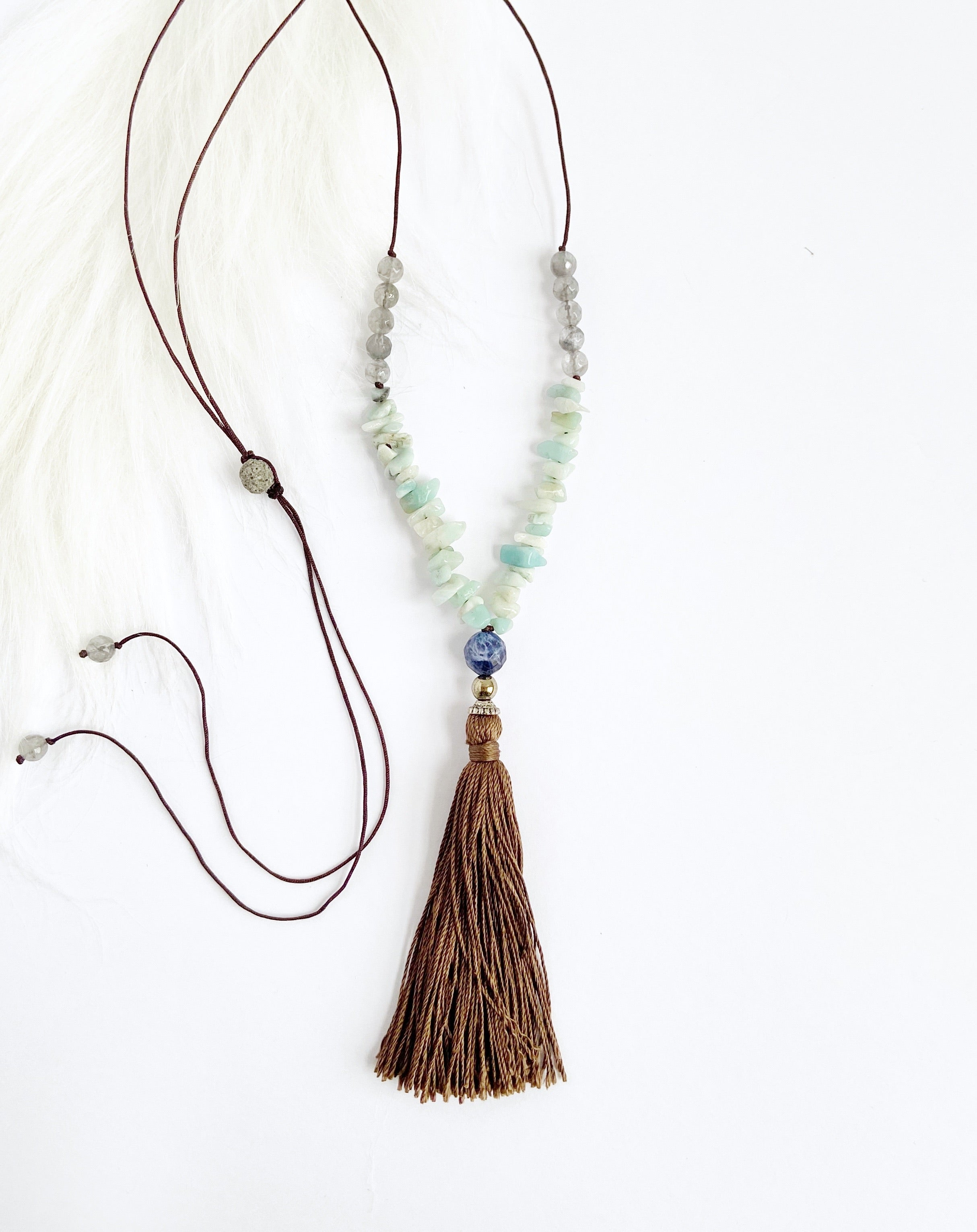 Sodalite & Amazonite Necklace