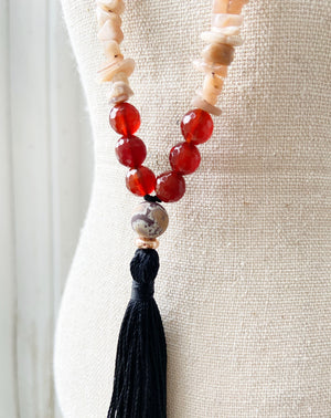Carnelian & Sunstone Necklace