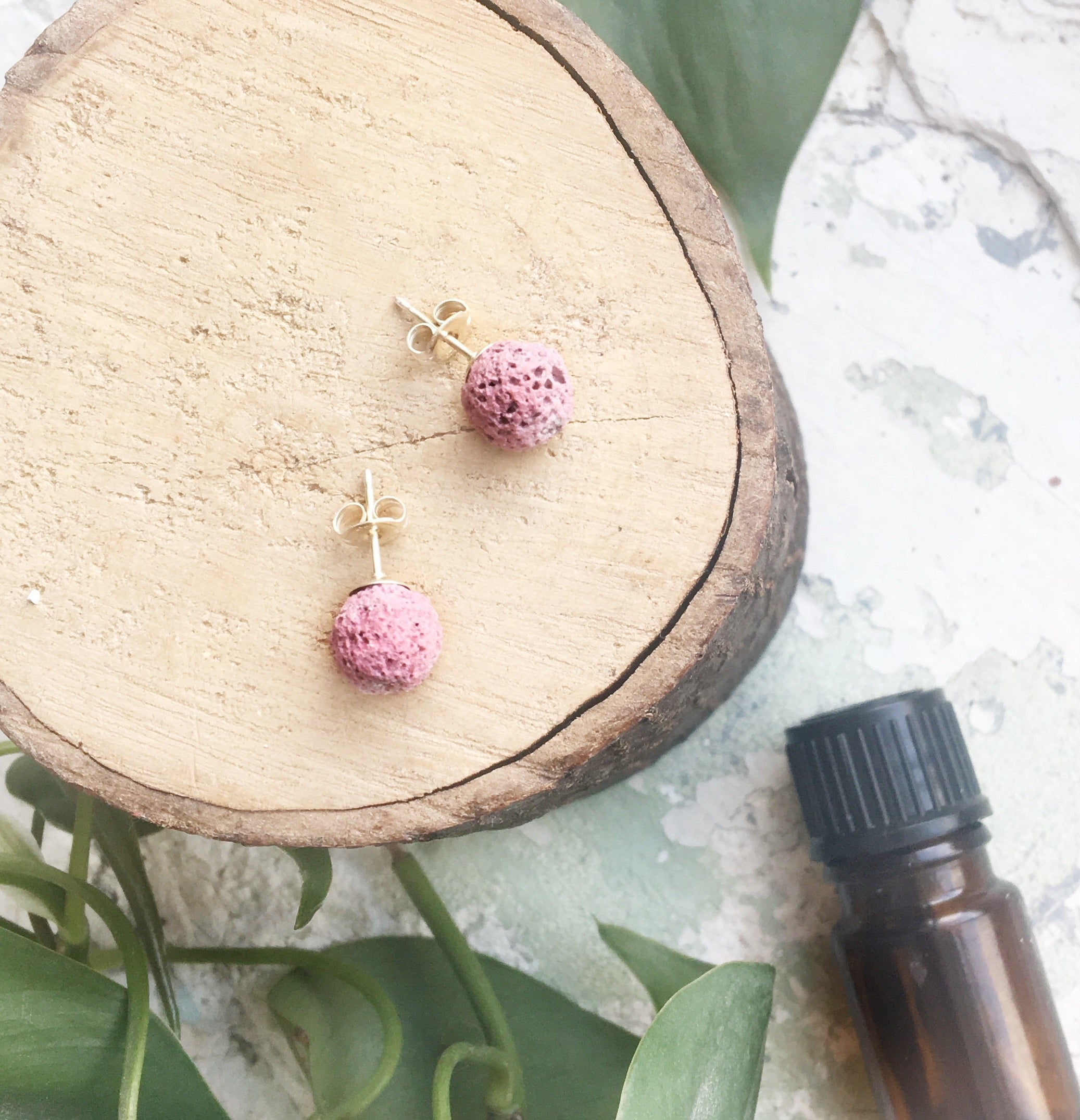 Rose Diffuser Earrings - Medium 8mm
