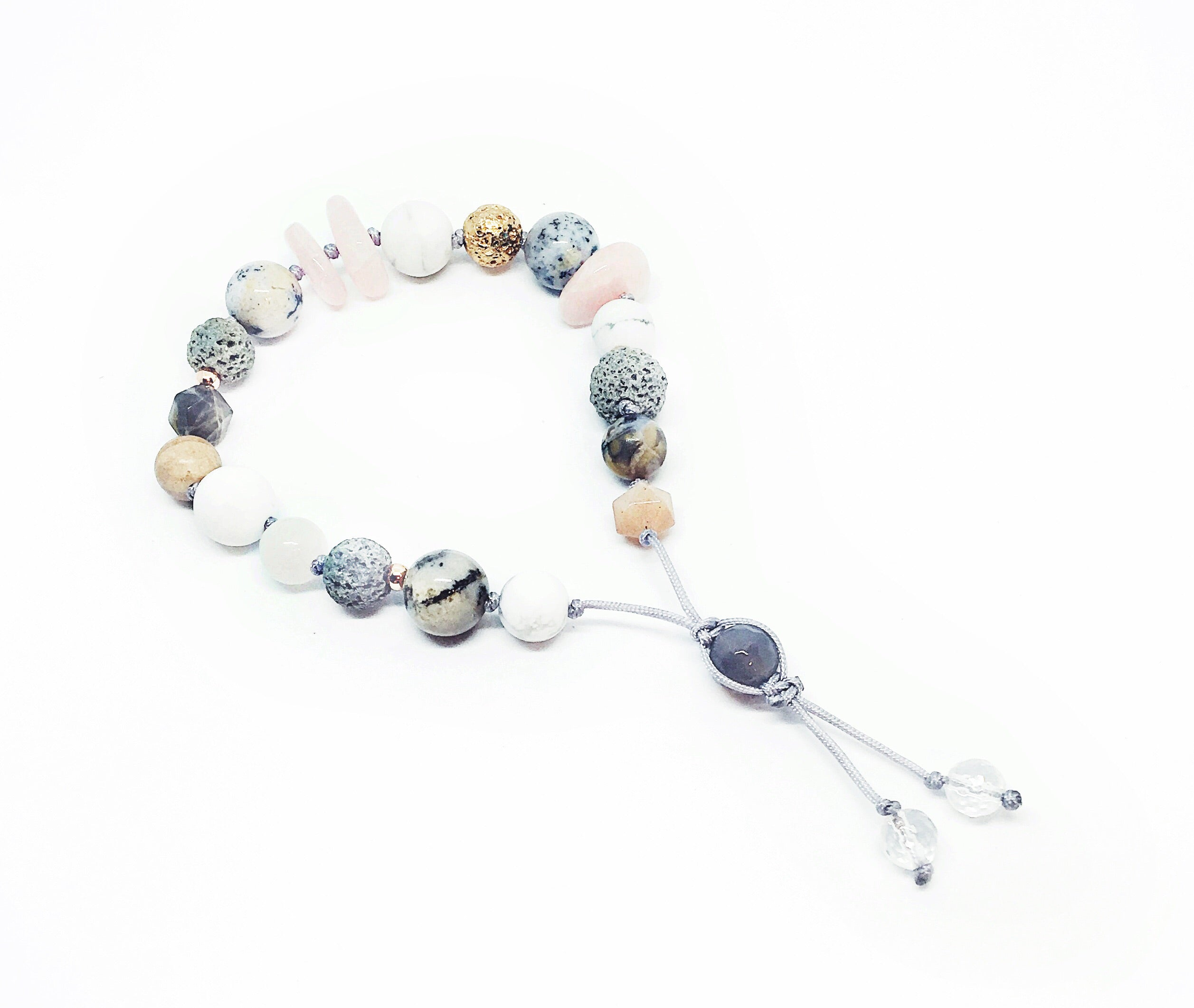 """Pleasantly Pink"" Adjustable Diffuser Bracelet"