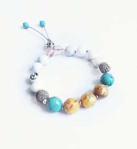 """Surf's Up"" Adjustable Diffuser Bracelet"
