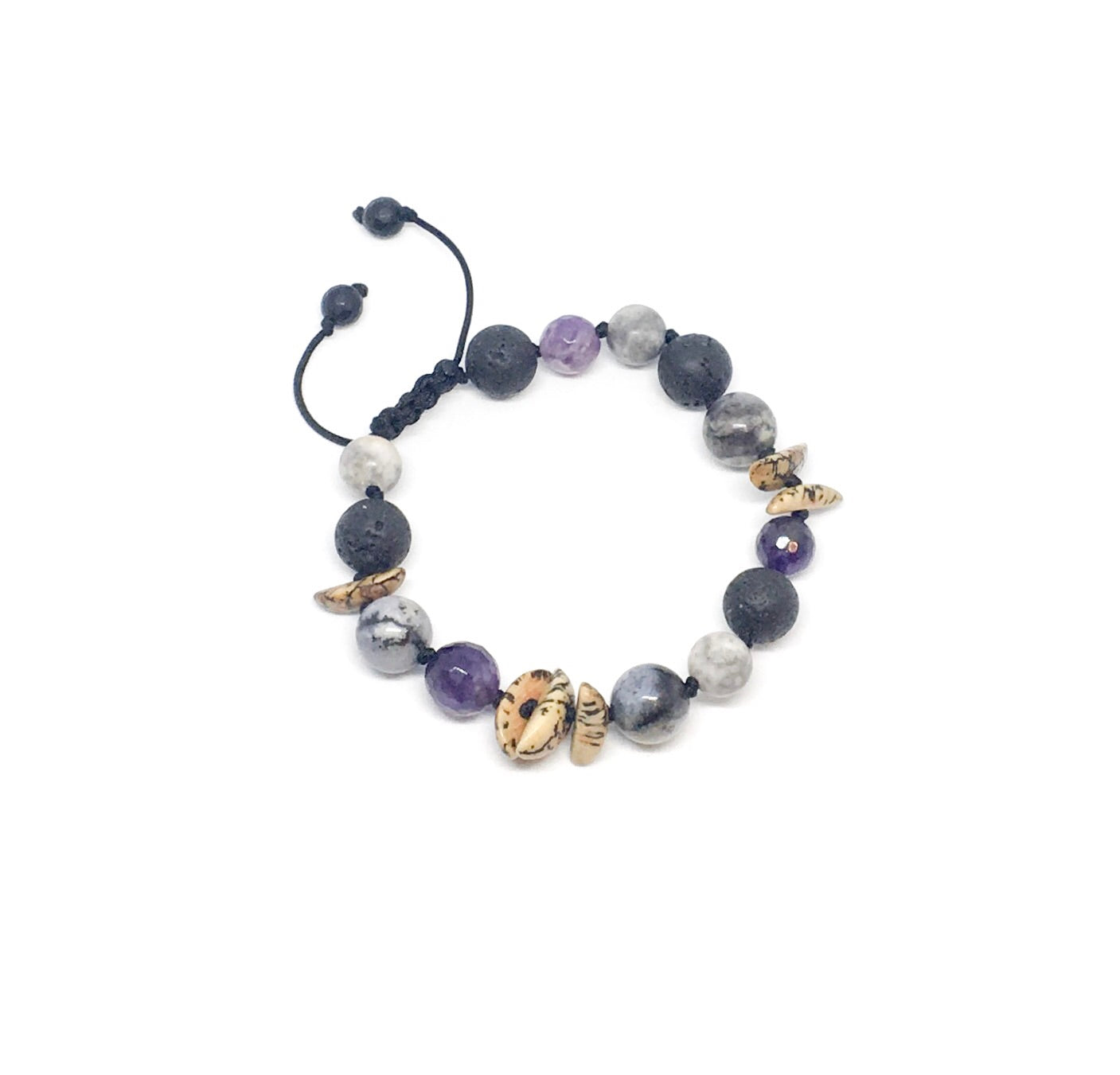 """Nuts About Amethyst"" Adjustable Diffuser Bracelet"