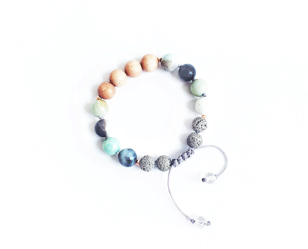 """By the Lakeside"" Adjustable Diffuser Bracelet"