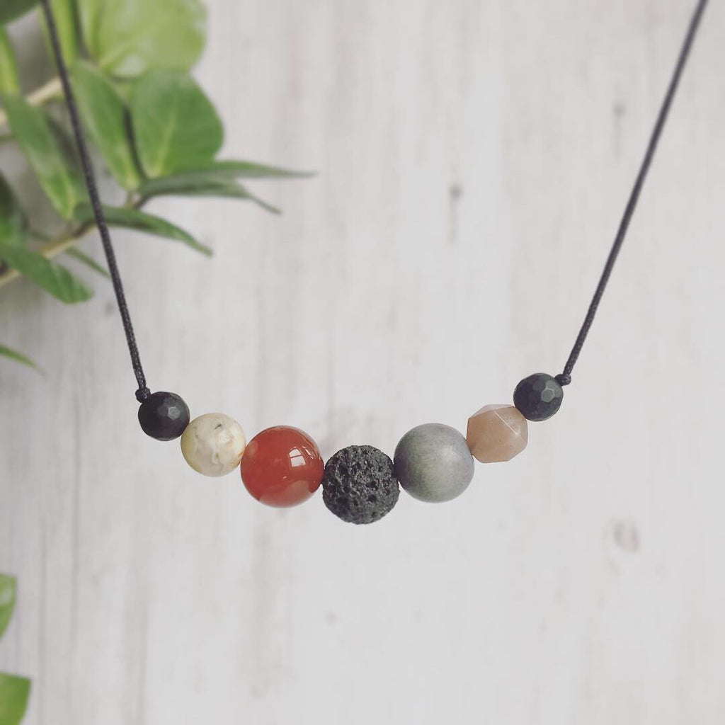 """Seeing Red"" Adjustable Diffuser Necklace"