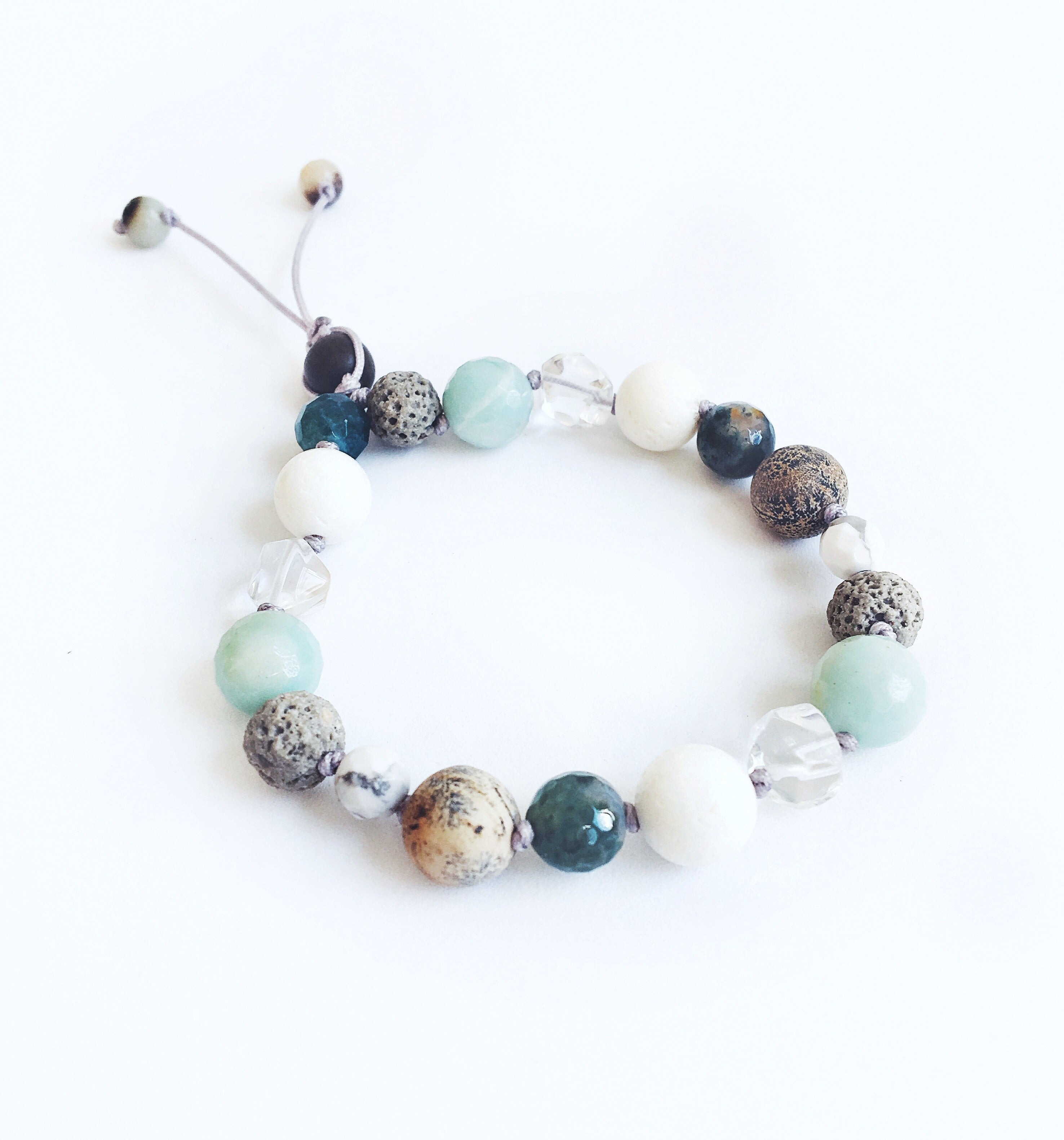 """At the Shoreline"" Adjustable Diffuser Bracelet"