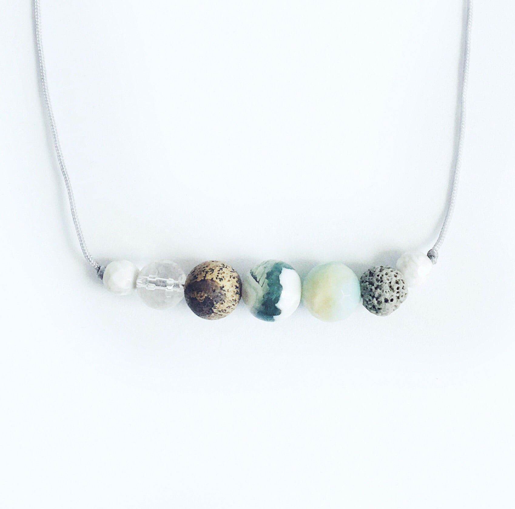 """At the Shoreline"" Adjustable Demi Diffuser Necklace"