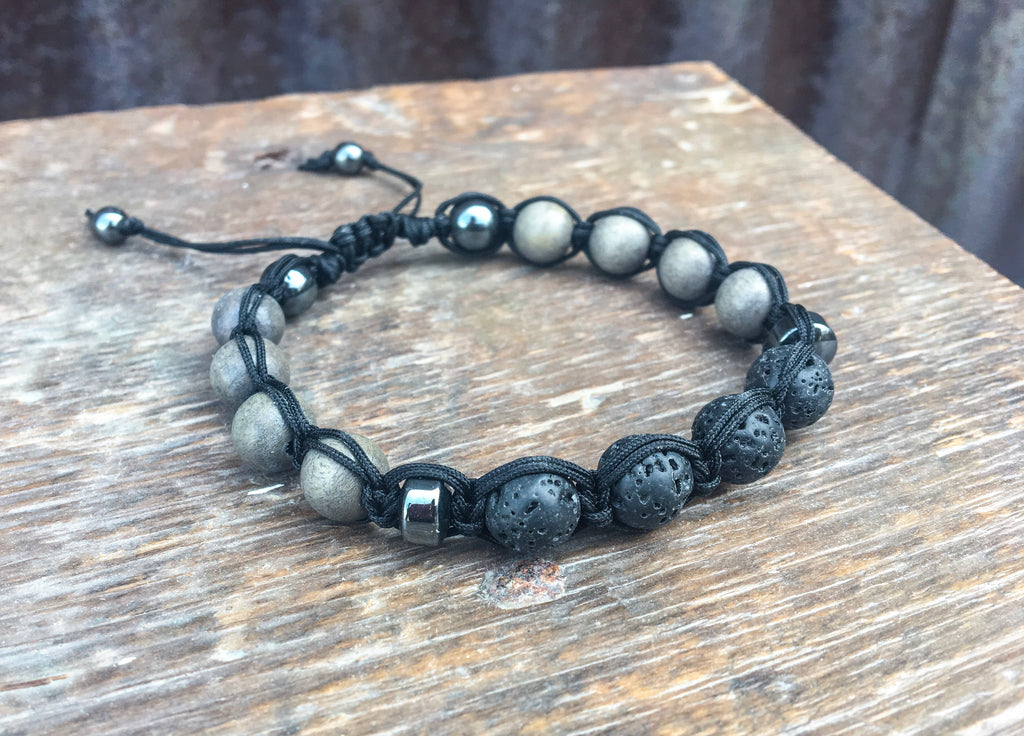 Men's Greywood + Lava Bracelet