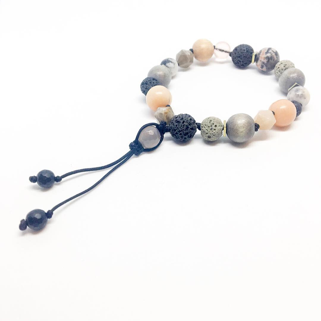 """Just Peachy"" Adjustable Diffuser Bracelet"