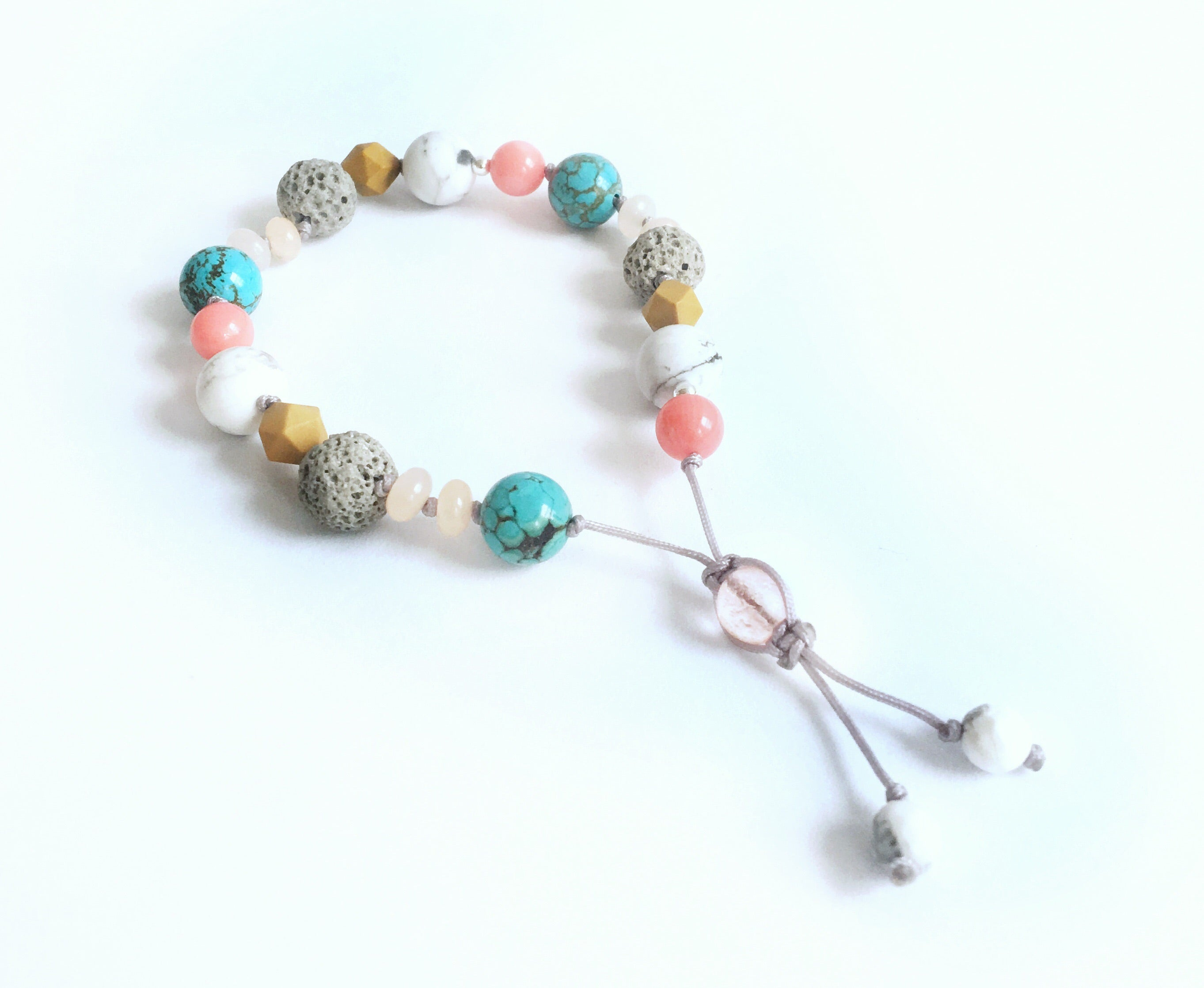 """To the Beach"" Adjustable Diffuser Bracelet"