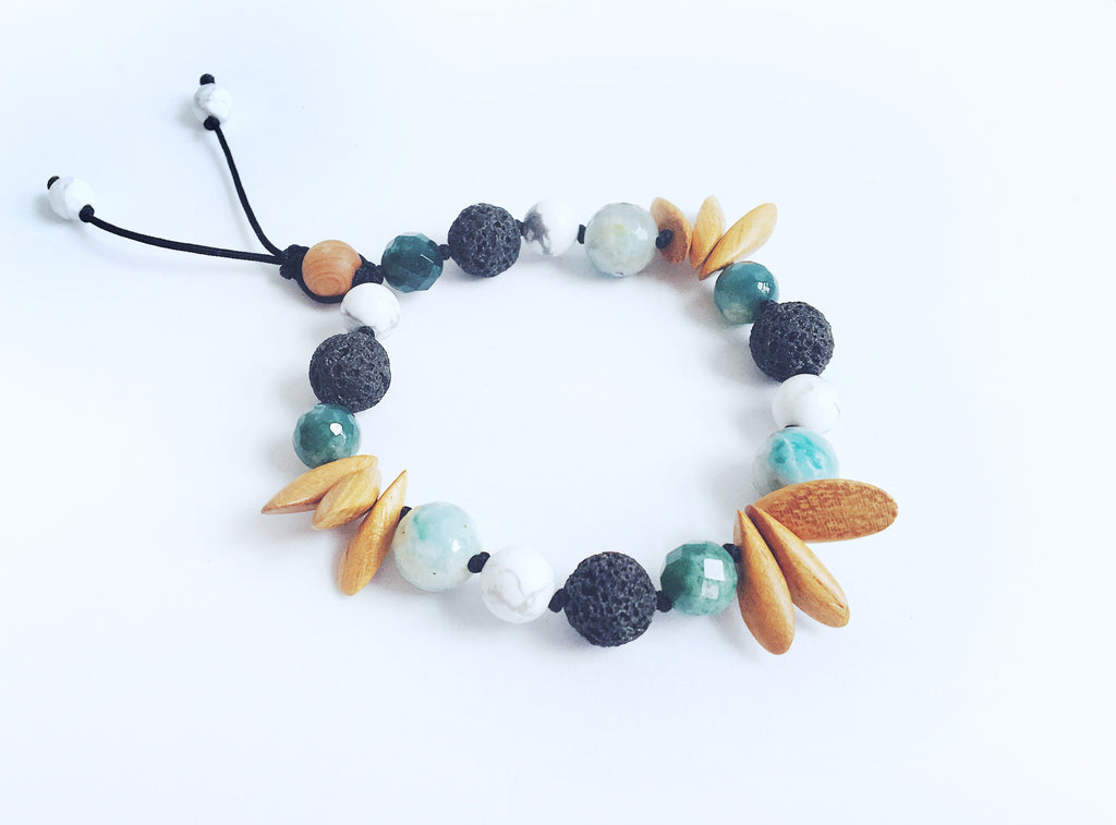 """Sunny-Side Up"" Adjustable Diffuser Bracelet"