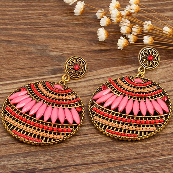 FREE + JUST PAY SHIPPING           Bohemian Vintage Ethnic Drop Earrings - Beautiful Colors