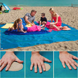 SAND ABSORBING BEACH MAT -  Blue, Green, Pink