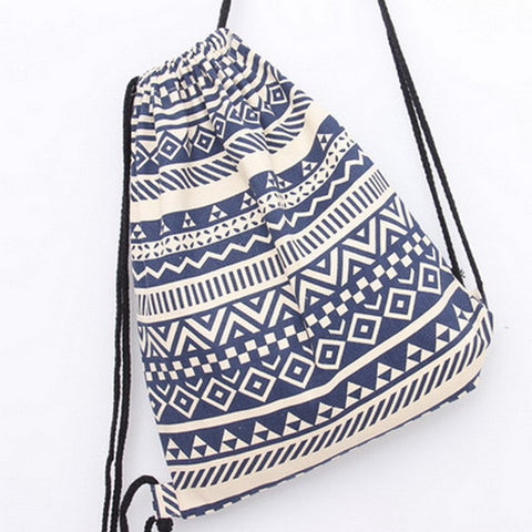 Canvas Backpack - Bohemia Drawstring Casual - Beach & Travel Bag - FREE SHIPPING