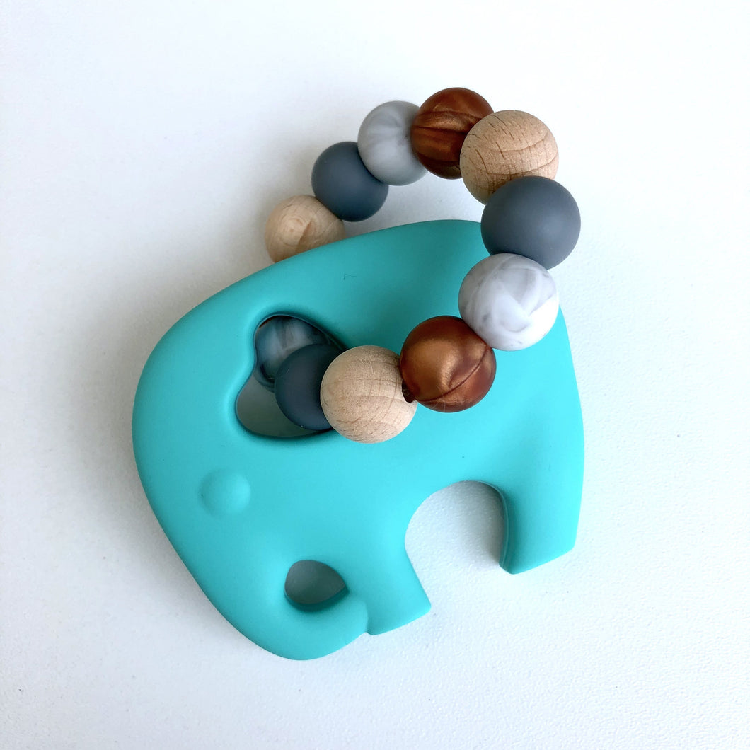 Jambu Beads non-toxic silicone jewellery & teething accessories - Ele Ring Teether