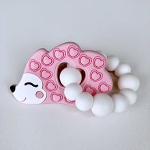 Jambu Beads non-toxic silicone jewellery & teething accessories - Hedgehog Ring Teether (Pink)