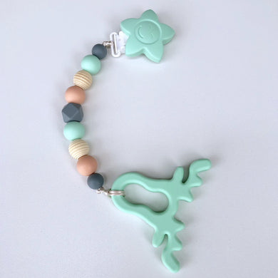 Jambu Beads non-toxic silicone jewellery & teething accessories - Noel Clip-On Teether