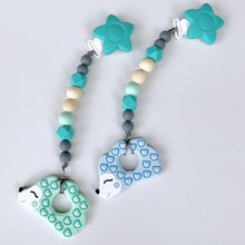 Jambu Beads non-toxic silicone jewellery & teething accessories - Serenity Clip-On Teether (Hedgehog)
