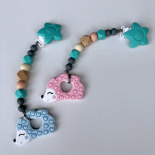 Jambu Beads non-toxic silicone jewellery & teething accessories - Miranda Clip-On Teether (Hedgehog)