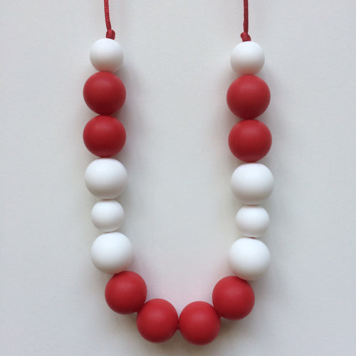 Jambu Beads non-toxic silicone jewellery & teething accessories - Jubilee Necklace (Red)